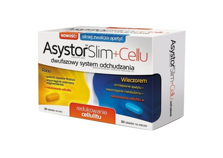 Asystor Slim+Cellu 60 tabletek
