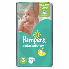 Pieluchy Pampers Active Baby 3 Midi 68szt