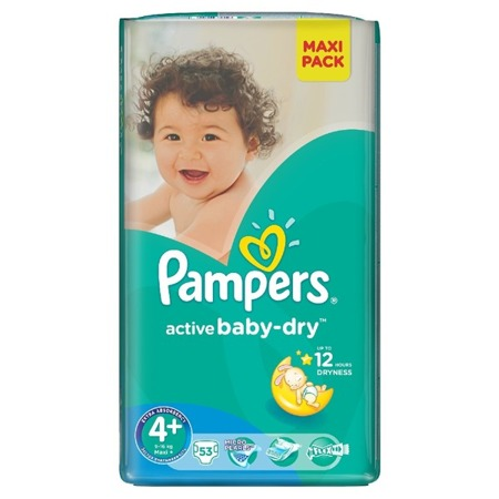 Pieluchy Pampers Active Baby 4+ 53 sztuk