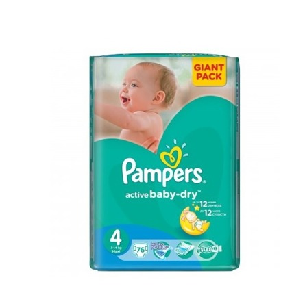 Pieluchy Pampers Active Baby 4 Maxi 76szt