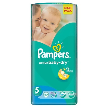 Pieluchy Pampers Active Baby 5 Junior 50szt